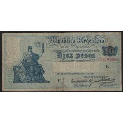 B1627 Caja de Conversion 10 Pesos 1927