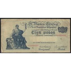 B1895 100 Pesos Ley 12.155 1937