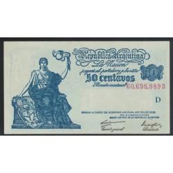B1807 50 Centavos Ley 12.155 1947 UNC