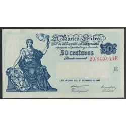 B1809 50 Centavos Ley 12.962 1948 UNC