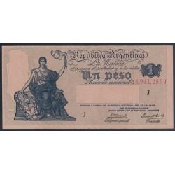 B1826 1 Peso Ley 12.155 1944 UNC