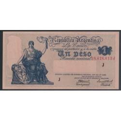 B1827a 1 Peso Ley 12.155 1945 UNC