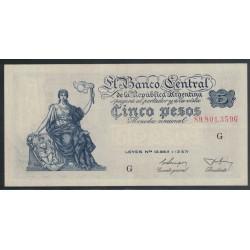 B1868 5 Pesos Leyes 12.962 y 13.571 1955