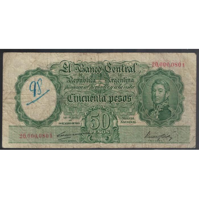 B1983 50 Pesos Ley 12155 1948