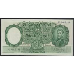 B2001 50 Pesos Leyes 12.962 y 13.571 1960 UNC