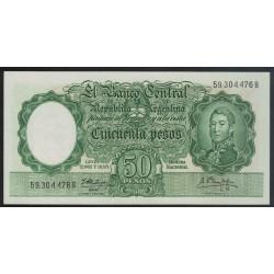 B2004 50 Pesos Leyes 12.962 y 13.571 1961 UNC