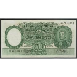 B2004 50 Pesos Leyes 12.962 y 13.571 1961
