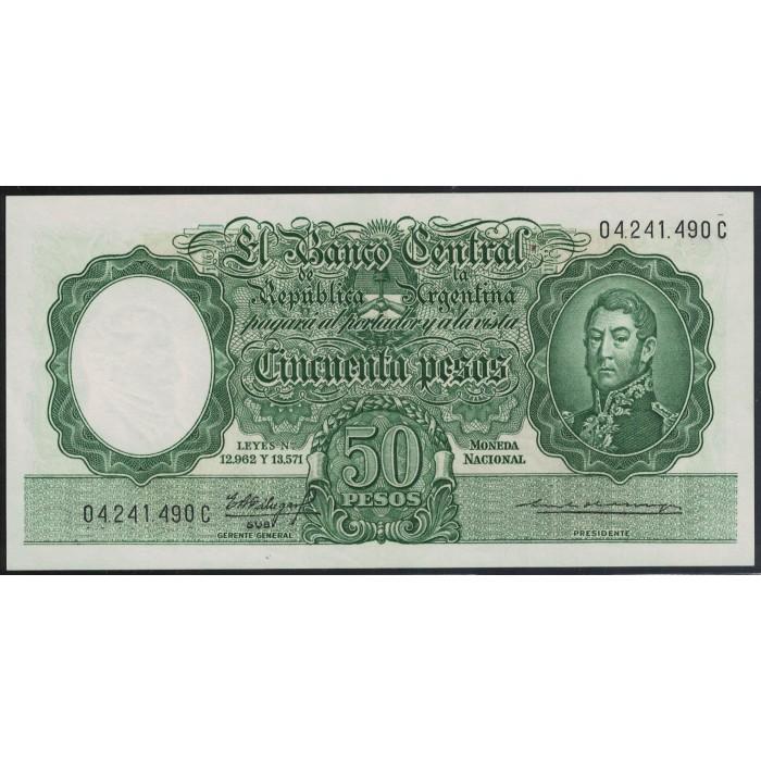 B2010 50 Pesos Leyes 12.962 y 13.571 1963