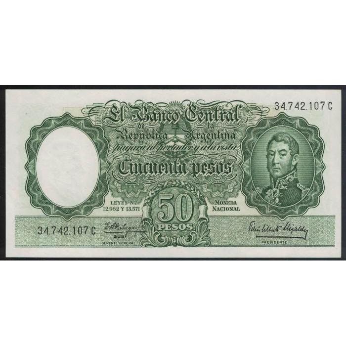 B2014 50 Pesos Leyes 12.962 y 13.571 1964 UNC