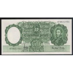 B2016 50 Pesos Leyes 12.962 y 13.571 1965 UNC