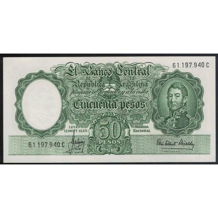 B2017 Filigrana A 50 Pesos Leyes 12.962 y 13.571 1966 UNC
