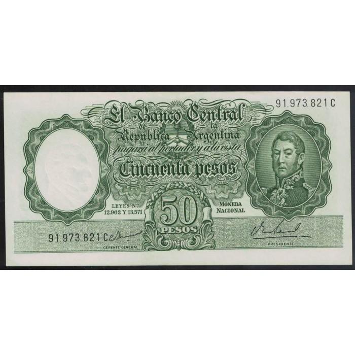 B2023 50 Pesos Leyes 12.962 y 13.571 1967