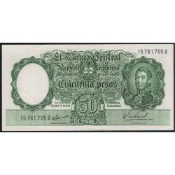 COL485b 50 Pesos Leyes 12.962 y 13.571 Filigrana A 1967