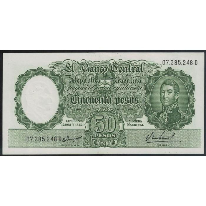 B2024 Filigrana C 50 Pesos Leyes 12.962 y 13.571 1967