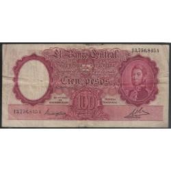 B2034 100 Pesos Ley 12155 1947