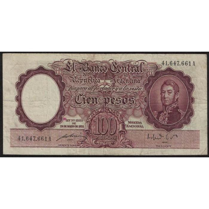 B2038 100 Pesos Ley 12155 1949