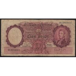 B2039 100 Pesos Ley 12155 1950