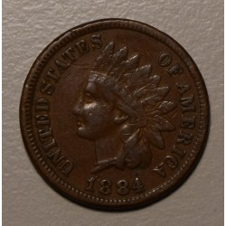 USA 1 Cent 1884 KM90a