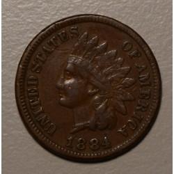 USA 1 Cent 1884 KM90a