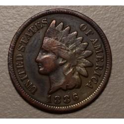 USA 1 Cent 1886 KM90a