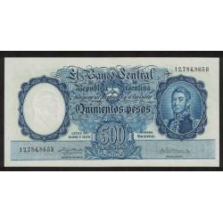 B2103 500 Pesos Leyes 12.962 y 13.571 1958 UNC