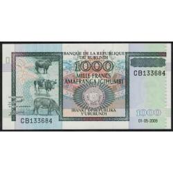 Burundi P39e 1000 Francos 2009 UNC