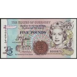 Guernsey P56a 5 Libras 1996 UNC