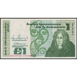 Irlanda P70d 1 Libra 1989 UNC