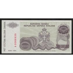 Croacia P-R26 500 Millon Dinara 1993