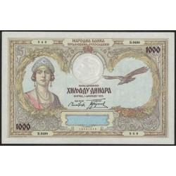 Yugoeslavia P29 1000 Dinara 1931 UNC