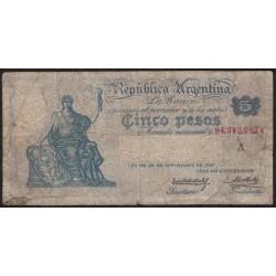 B1589 5 Pesos 1925 Caja de Conversion