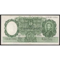 Reposicion B2018 50 Pesos Leyes 12.962 y 13.571 Filigrana A