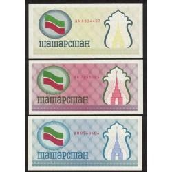Tatarstan P5a,b,c 100 Rublos 1991/92 UNC X3