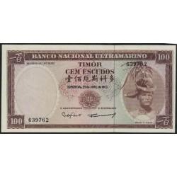 Timor P28a 100 Escudos 1963 UNC