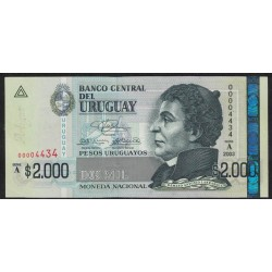 Uruguay P92a 2000 Pesos 2003