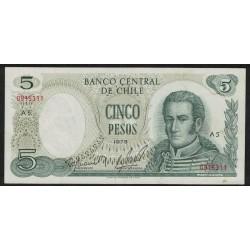 Chile P149a 5 Pesos 1975