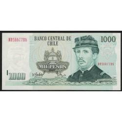 Chile P154g 1000 Pesos 2007 UNC