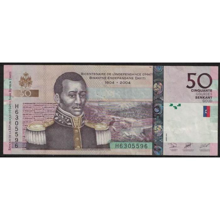 Haiti P274a 50 Gourdes 2004