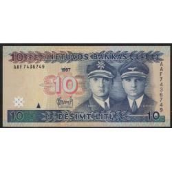 Lituania P59 10 Litu 1997 UNC
