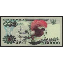 Indonesia P132d 20000 Rupias 1995 UNC