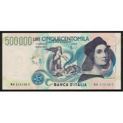 Muy Raro Italia P118 500.000 Liras 1997