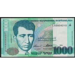 Armenia P50 1000 Dram 2001 UNC