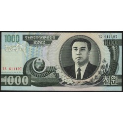 Corea del Norte P45a 1000 Won 2002 UNC