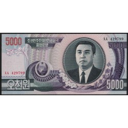 Corea del Norte P46 5000 Won 2002 UNC
