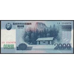 Corea Del Norte P65a 2000 Won Año 2008 UNC