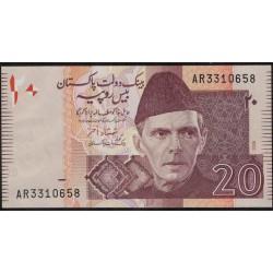Pakistan P46b 20 Rupias 2006 UNC