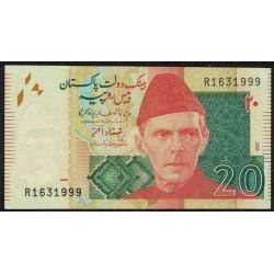 Pakistan P55a 20 Rupias 2007 UNC