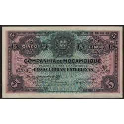 Mozambique P-R32 5 Libras 1934