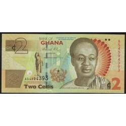 Ghana P37A 2 Cedis 2010 UNC