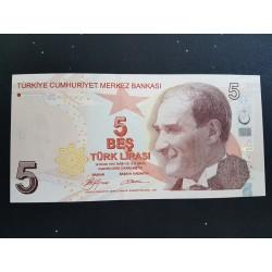 Turquia P222 5 Liras 2009 UNC
